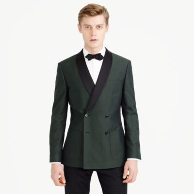 Ludlow dinner jacket in oxford cotton