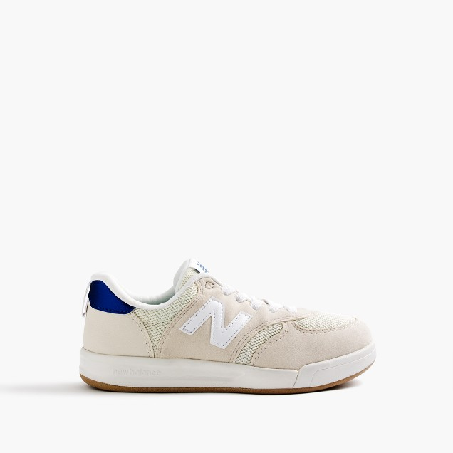 Kids' New Balance 300 with tieless laces
