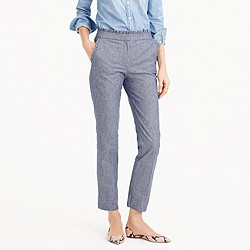 Tall cropped chambray ruffle pant