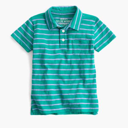 Boys' striped polo shirt