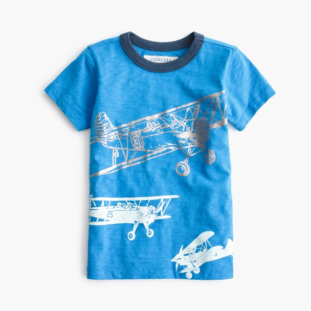 Boys' glow-in-the-dark planes T-shirt