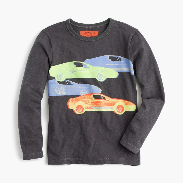 Boys' glow-in-the-dark cars T-shirt