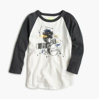 Boys' three-quarter sleeve Max the Monster drumming T-shirt