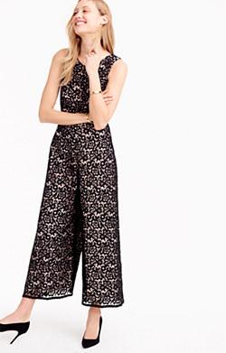 Collection wide-leg lace jumpsuit
