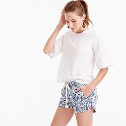 Easy short in mermaid print