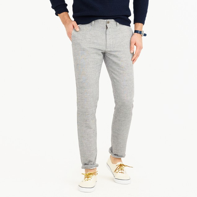Cotton-linen chino pant in 484 slim fit