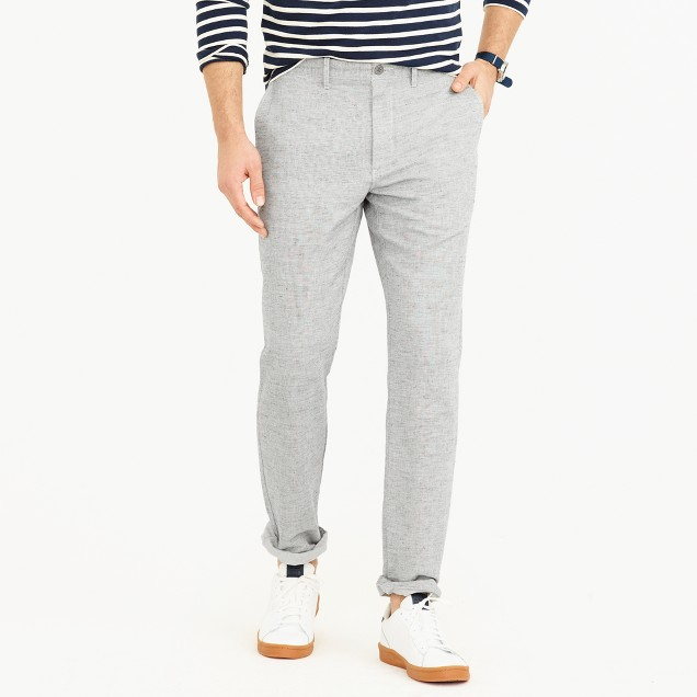 Cotton-linen chino pant in 1040 athletic fit