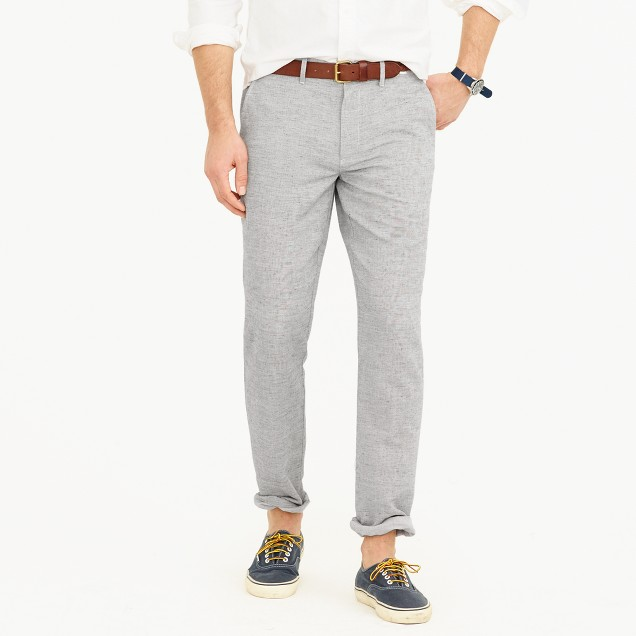 Cotton-linen chino pant in 770 straight fit