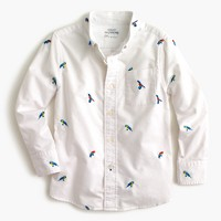 Kids' critter oxford cotton shirt in macaws
