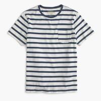 Wallace & Barnes indigo T-shirt in stripe