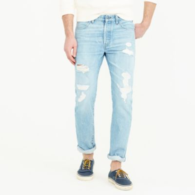 Wallace & Barnes destroyed selvedge jean