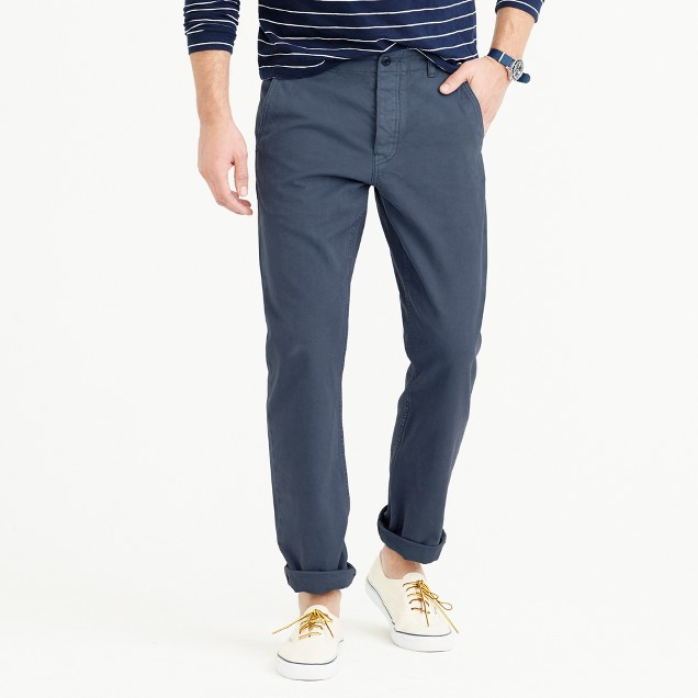 Wallace & Barnes garment-dyed selvedge chino pant