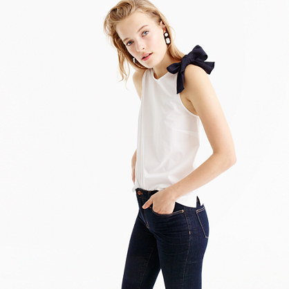 Bow-shoulder top