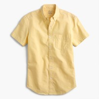 Slim short-sleeve lightweight oxford shirt