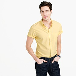 Slim short-sleeve lightweight oxford shirt