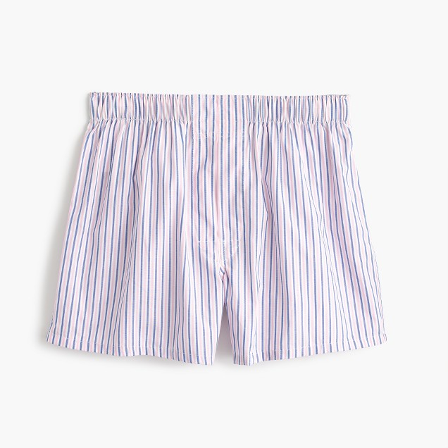 Pink striped boxers