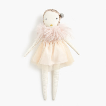 Kids' Jess Brown® for crewcuts doll in gold tulle
