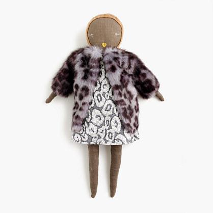 Kids' Jess Brown® for crewcuts doll in metallic leopard