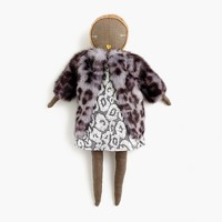 Kids' Jess Brown® for crewcuts doll in metallic leopard