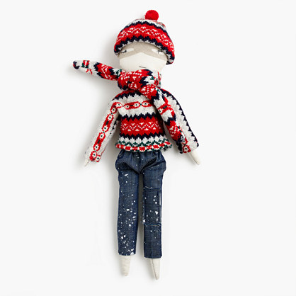 Kids' Jess Brown® for crewcuts doll in Fair Isle and denim