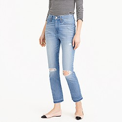 Tall vintage crop jean in Edith wash