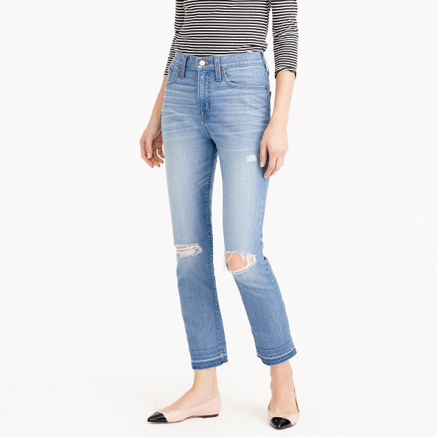 Petite vintage crop jean in Edith wash
