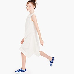 Girls' asymmetrical eyelet dress