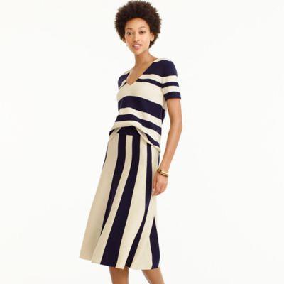 Wool striped sweater-skirt