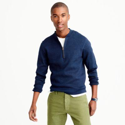 Half-zip indigo sweater