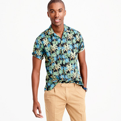 "Gitman Vintageâ""¢ camp-collar shirt in palm tree print"