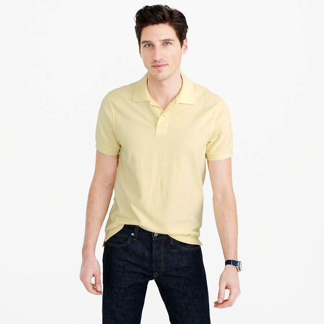 Sun-faded classic polo shirt