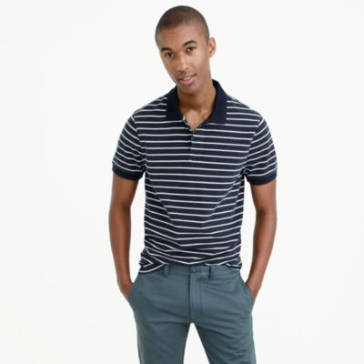 Tall classic piqué polo shirt in stripe