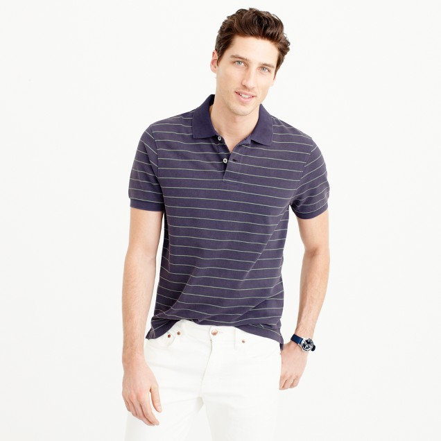 Classic piqué polo shirt in wide stripe