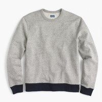 French terry crewneck sweatshirt in grey