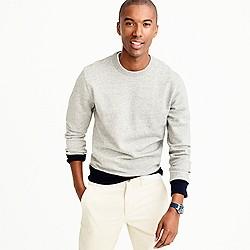 French terry crewneck sweatshirt in grey