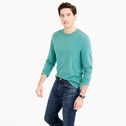 Long-sleeve piqué T-shirt