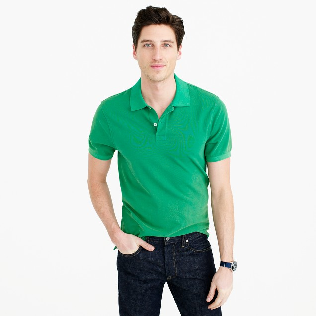 Slim sun-faded classic polo shirt