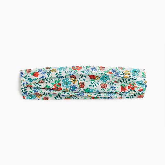 Cotton headband in Liberty® Edenham floral