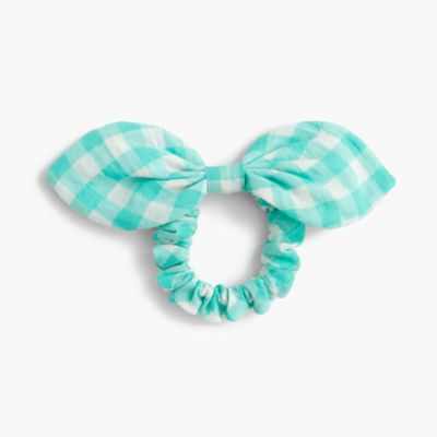 Bow hair tie in gingham