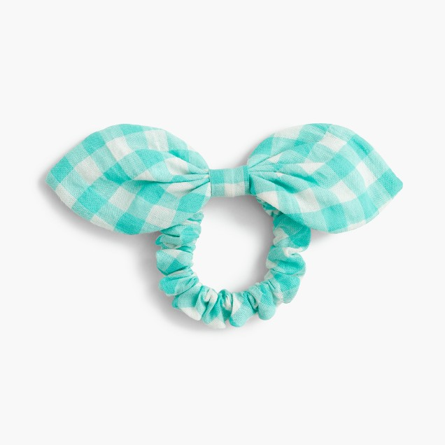 Bow hair tie in gingham