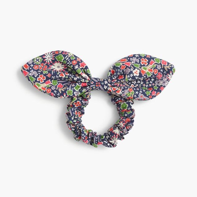 Bow hair tie in Liberty® Kayoko floral