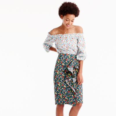 Ruffle skirt in Liberty® Edenham floral