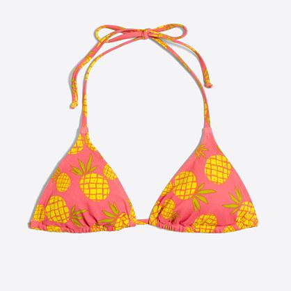 Pineapple string bikini top
