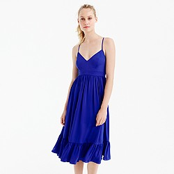 Petite drapey spaghetti-strap dress