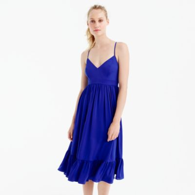 Tall drapey spaghetti-strap dress
