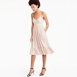 Pre-order Petite drapey spaghetti-strap dress