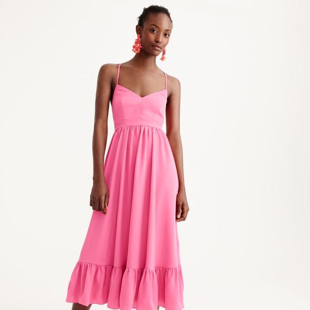 Drapey spaghetti-strap dress
