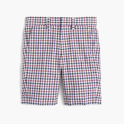 Boys' Ludlow suit short in puckered gingham
