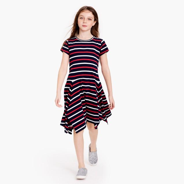 GIrls' striped handkerchief dress