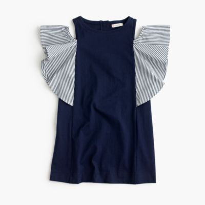 Girls' off-the-shoulder ruffle dress